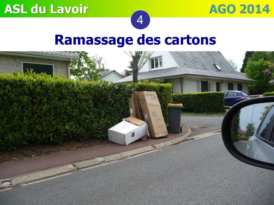 4 Ramassage des cartons