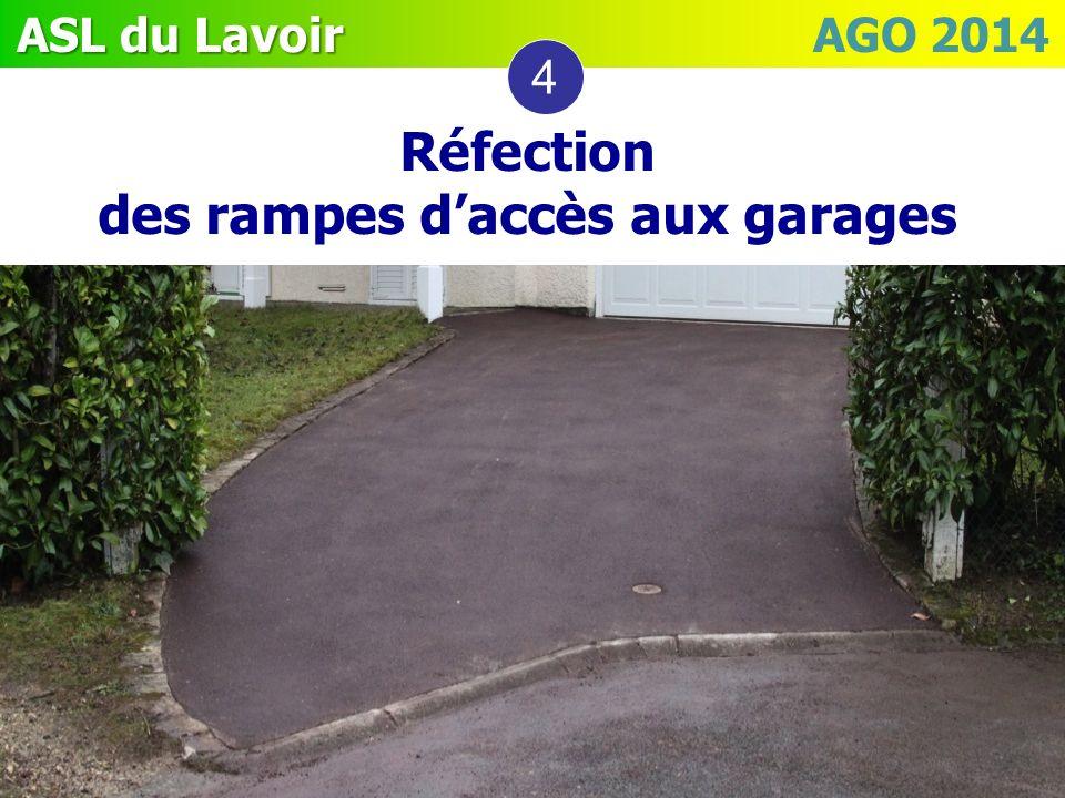 Réfection des rampes d'accès aux garages