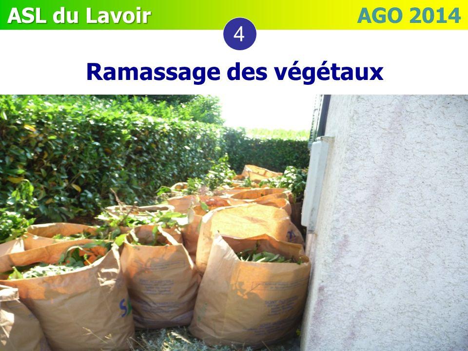 Ramassage des végétaux