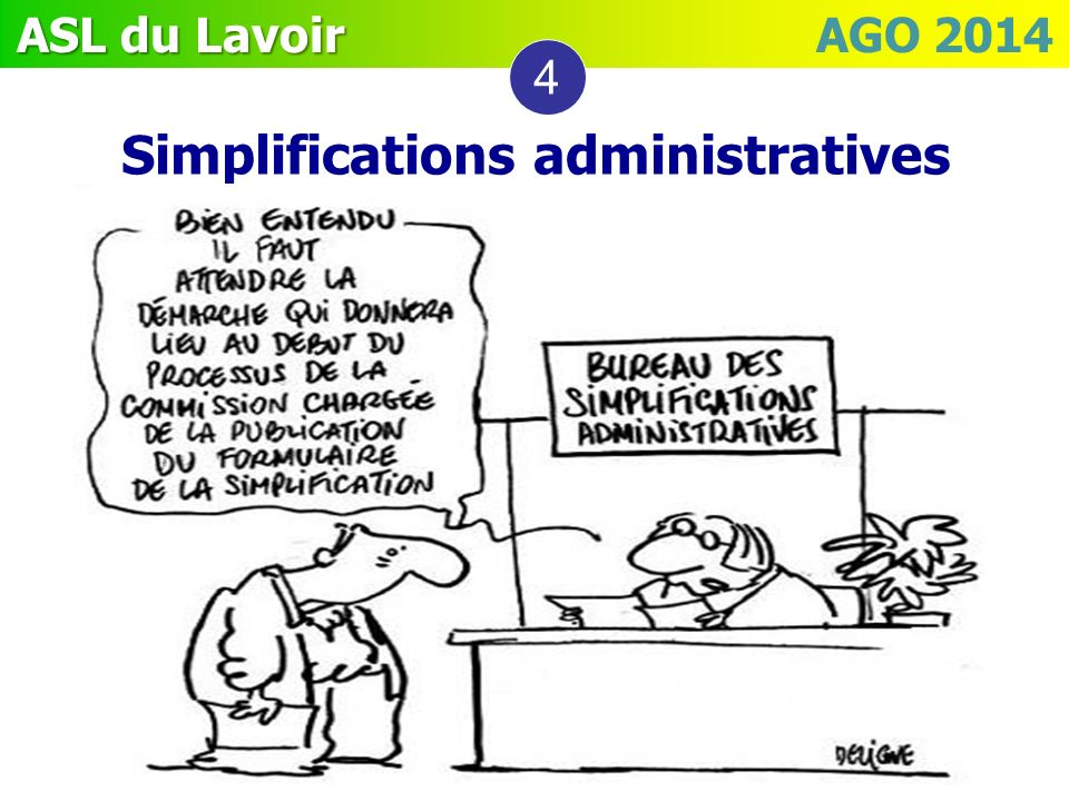 Simplifications administratives