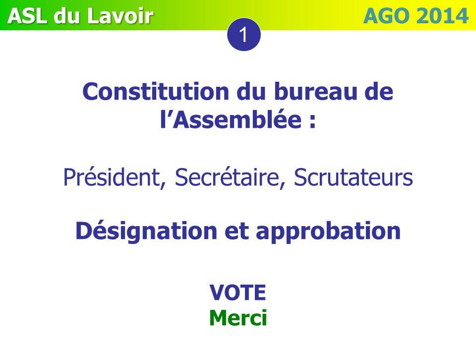 Constitution du bureau de l'Assemblée : Désignation et approbation