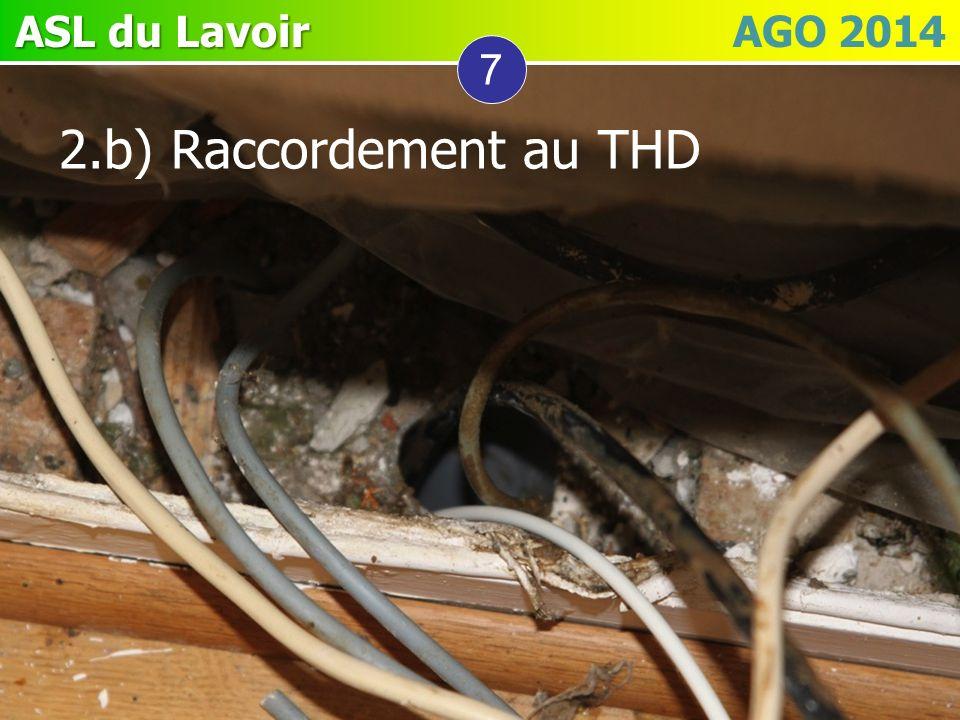 7 2.b) Raccordement au THD