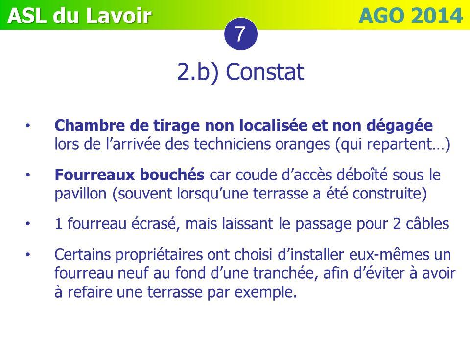 7 2.b) Constat. Chambre de tirage non localisée et non dégagée lors de l'arrivée des techniciens oranges (qui repartent…)