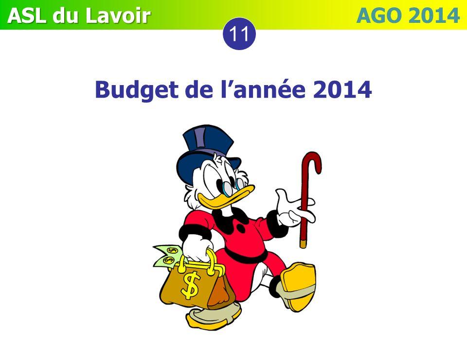 11 Budget de l'année 2014