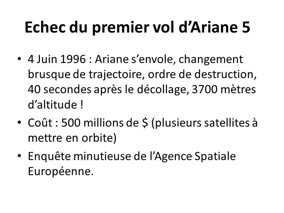 Echec du premier vol d'Ariane 5