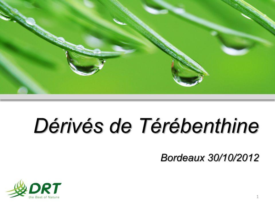 Dérivés de Térébenthine Bordeaux 30/10/2012