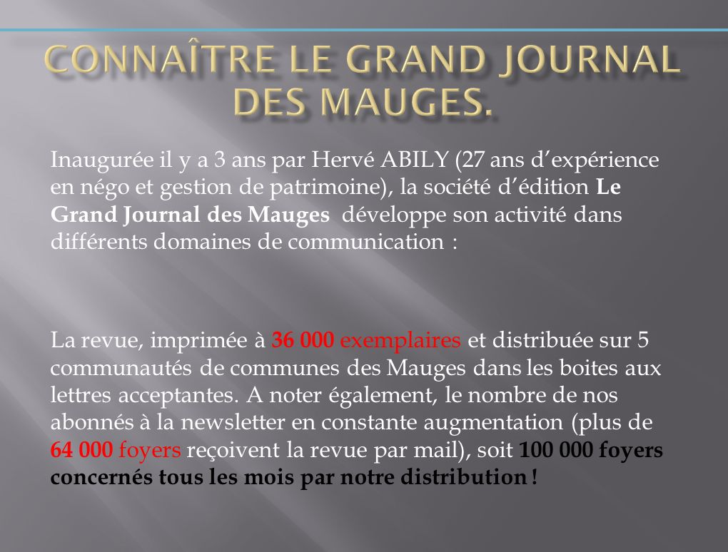 Connaître Le Grand Journal des Mauges.