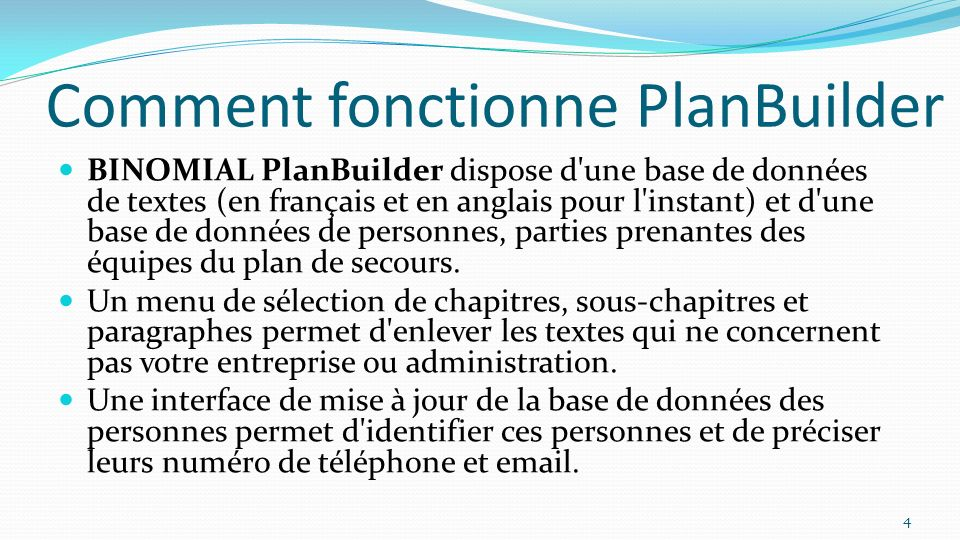 Comment fonctionne PlanBuilder