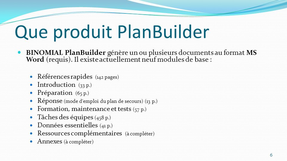 Que produit PlanBuilder