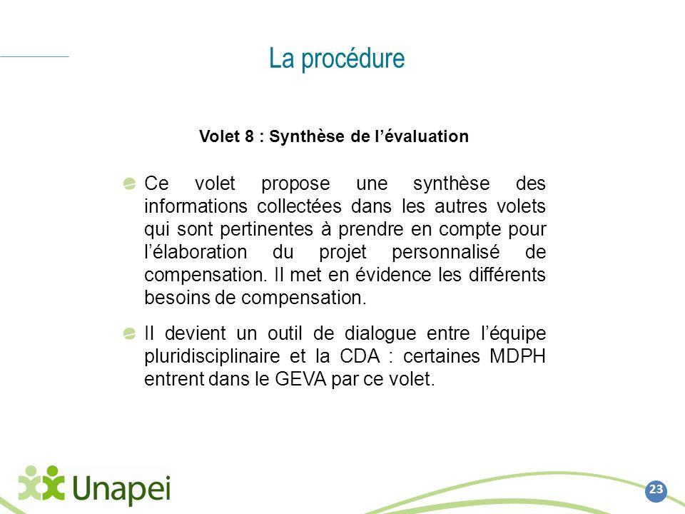 Volet 8 : Synthèse de l'évaluation