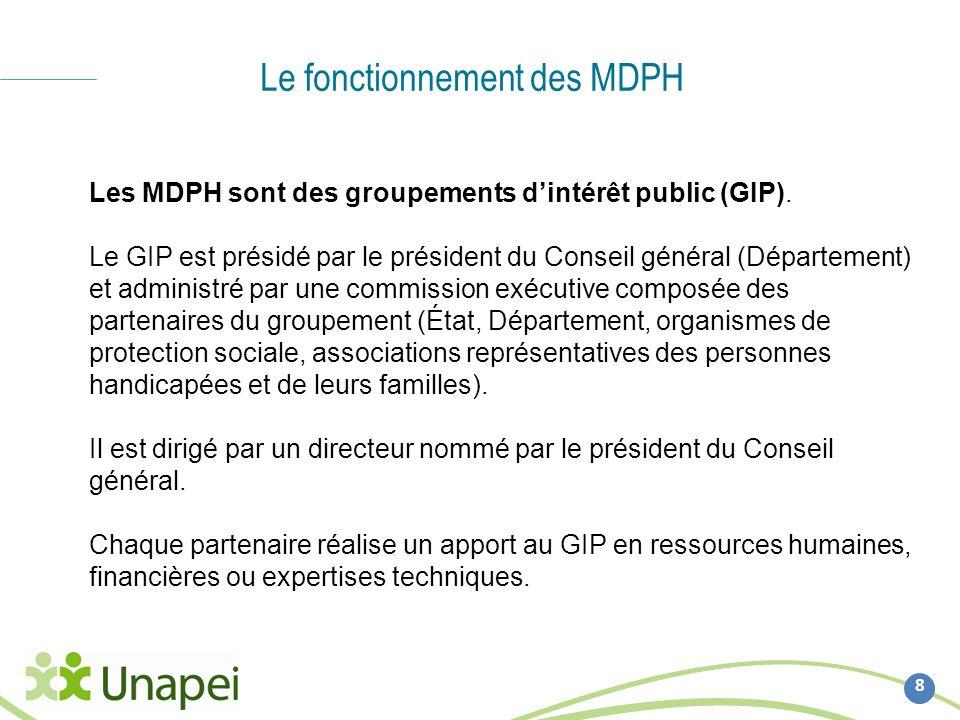 Le fonctionnement des MDPH