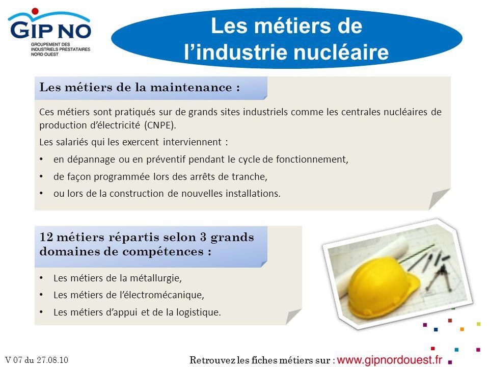 Les métiers de l'industrie nucléaire