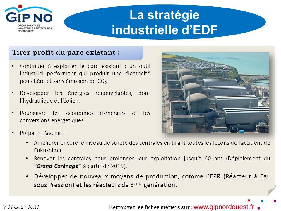 La stratégie industrielle d'EDF
