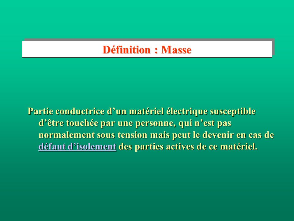Définition : Masse