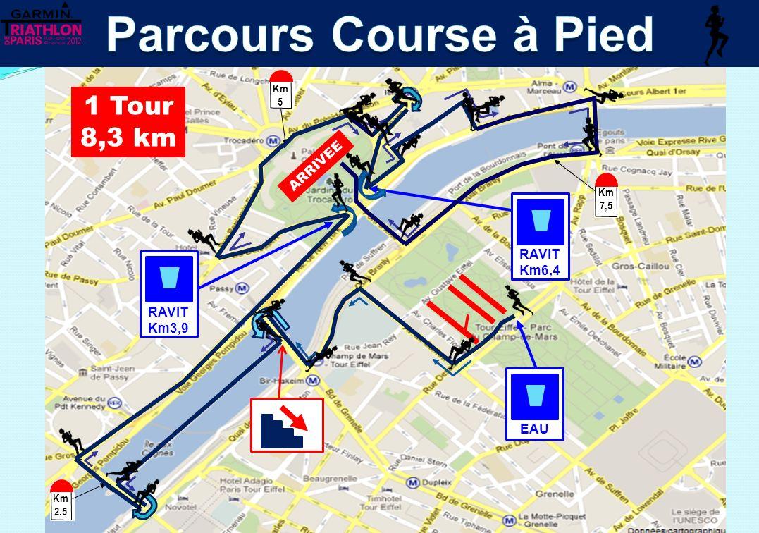 Parcours Course à Pied 1 Tour 8,3 km ARRIVEE RAVIT Km6,4 RAVIT Km3,9