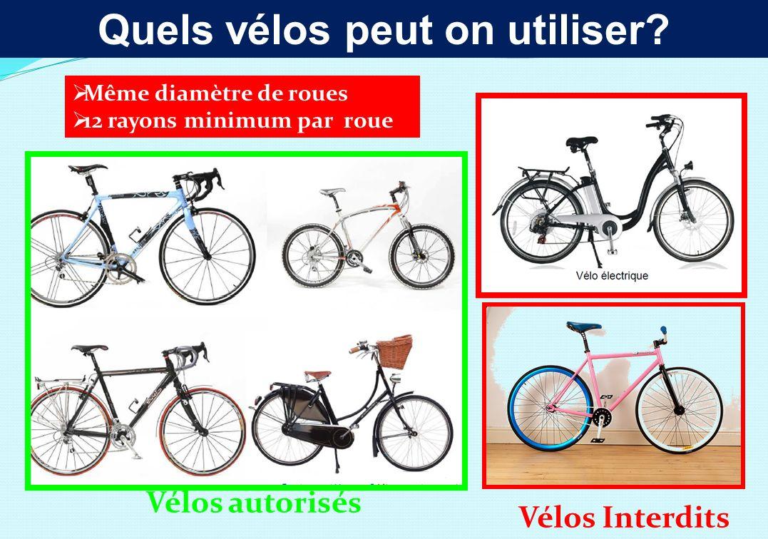 Quels vélos peut on utiliser