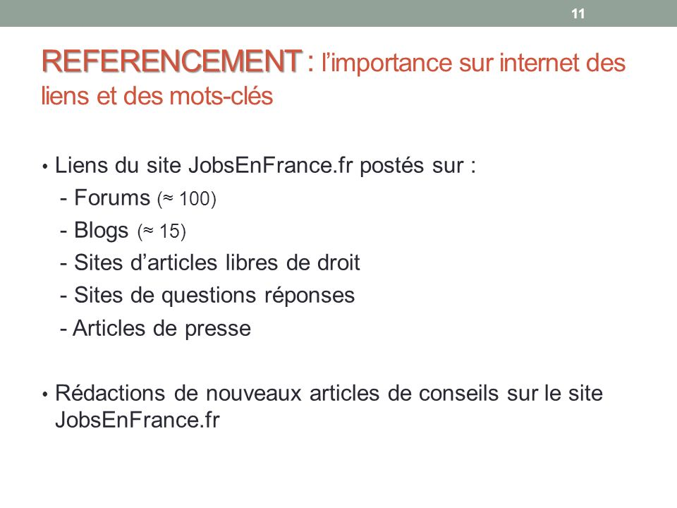REFERENCEMENT : l'importance sur internet des liens et des mots-clés