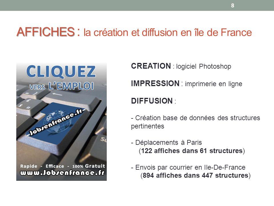 AFFICHES : la création et diffusion en île de France