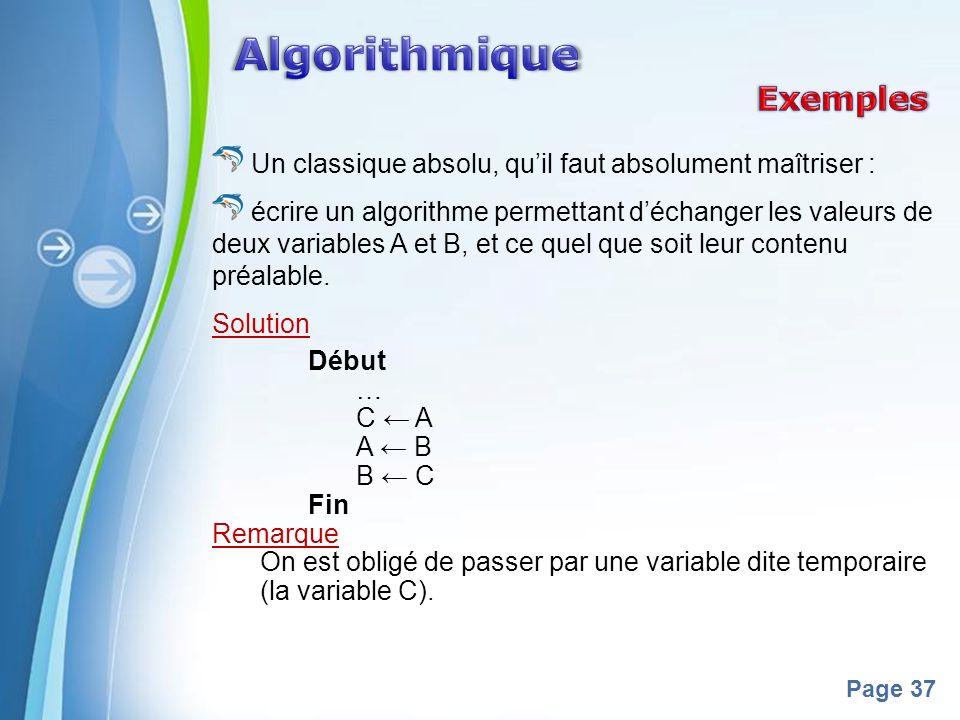 Algorithmique Exemples