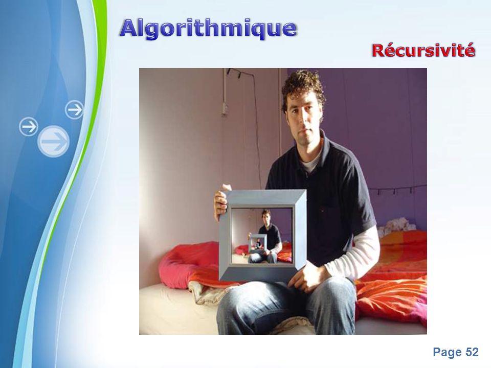Algorithmique Récursivité