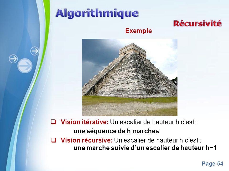 Algorithmique Récursivité Exemple