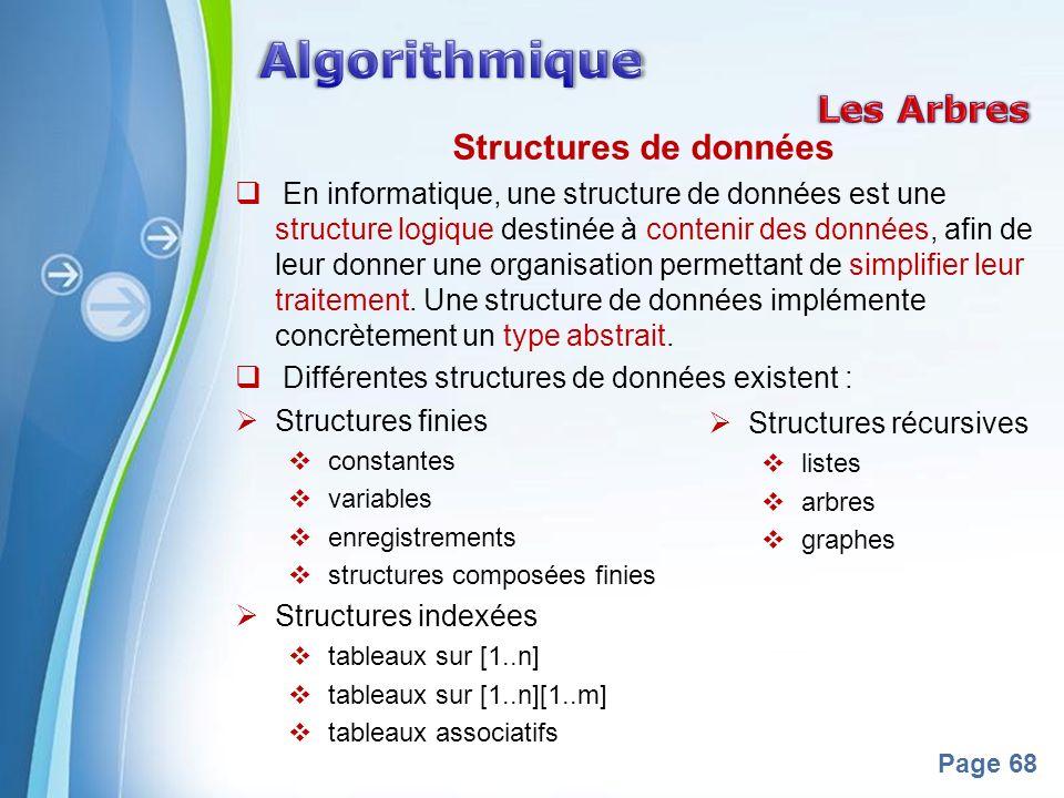 Algorithmique Les Arbres Structures de données