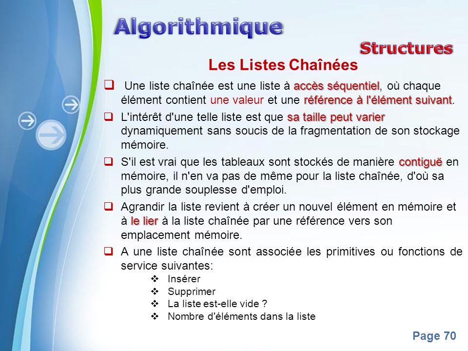 Algorithmique Structures Les Listes Chaînées