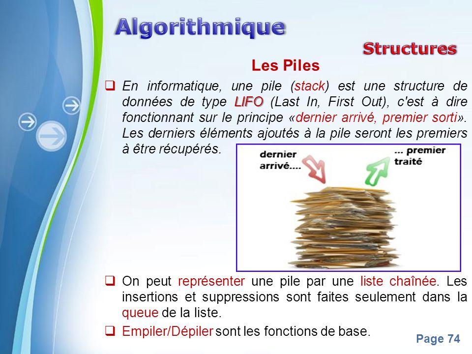 Algorithmique Structures Les Piles