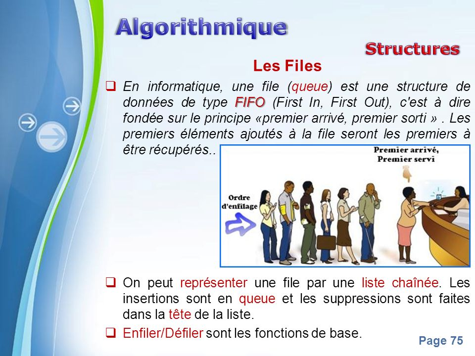 Algorithmique Structures Les Files
