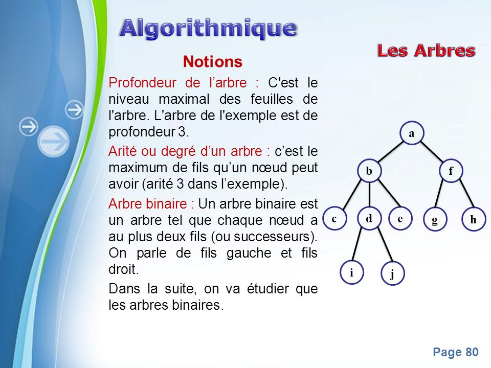 Algorithmique Les Arbres Notions