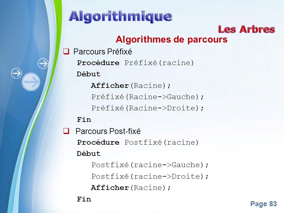 Algorithmes de parcours