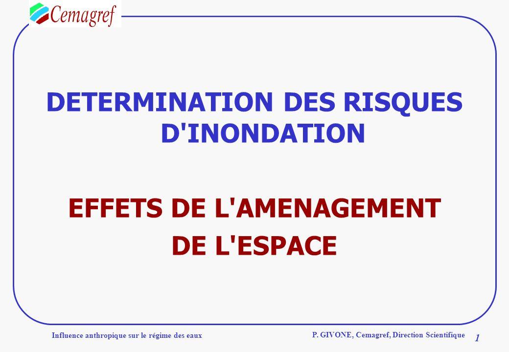 DETERMINATION DES RISQUES D INONDATION EFFETS DE L AMENAGEMENT