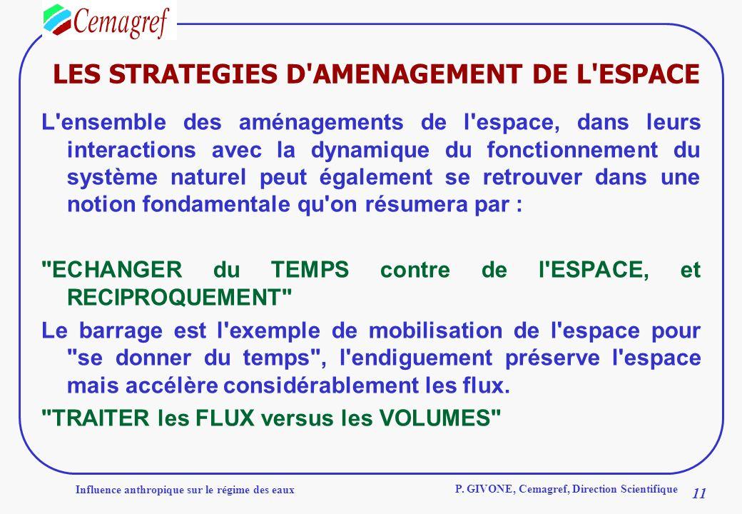 LES STRATEGIES D AMENAGEMENT DE L ESPACE