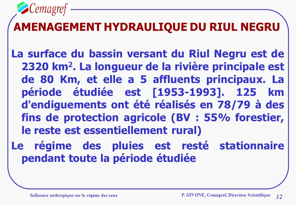 AMENAGEMENT HYDRAULIQUE DU RIUL NEGRU