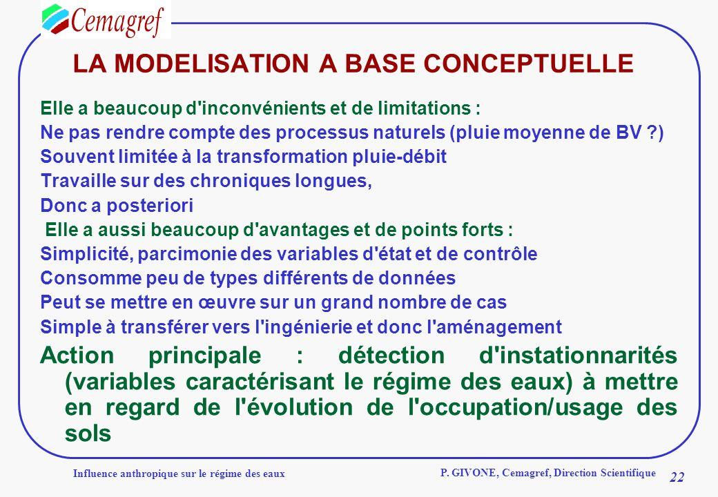 LA MODELISATION A BASE CONCEPTUELLE
