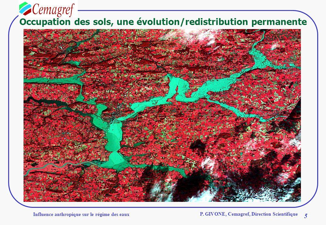 Occupation des sols, une évolution/redistribution permanente