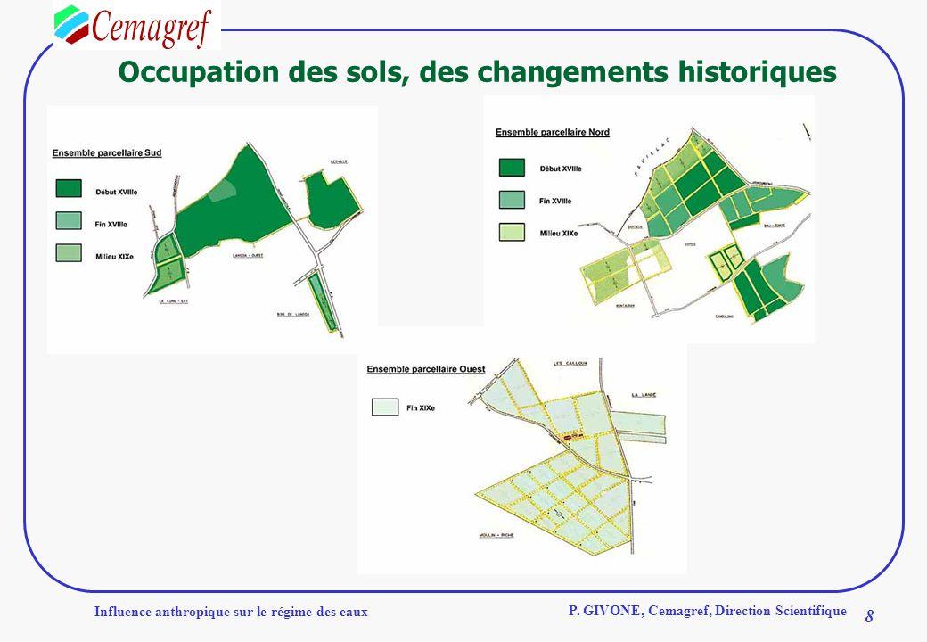 Occupation des sols, des changements historiques
