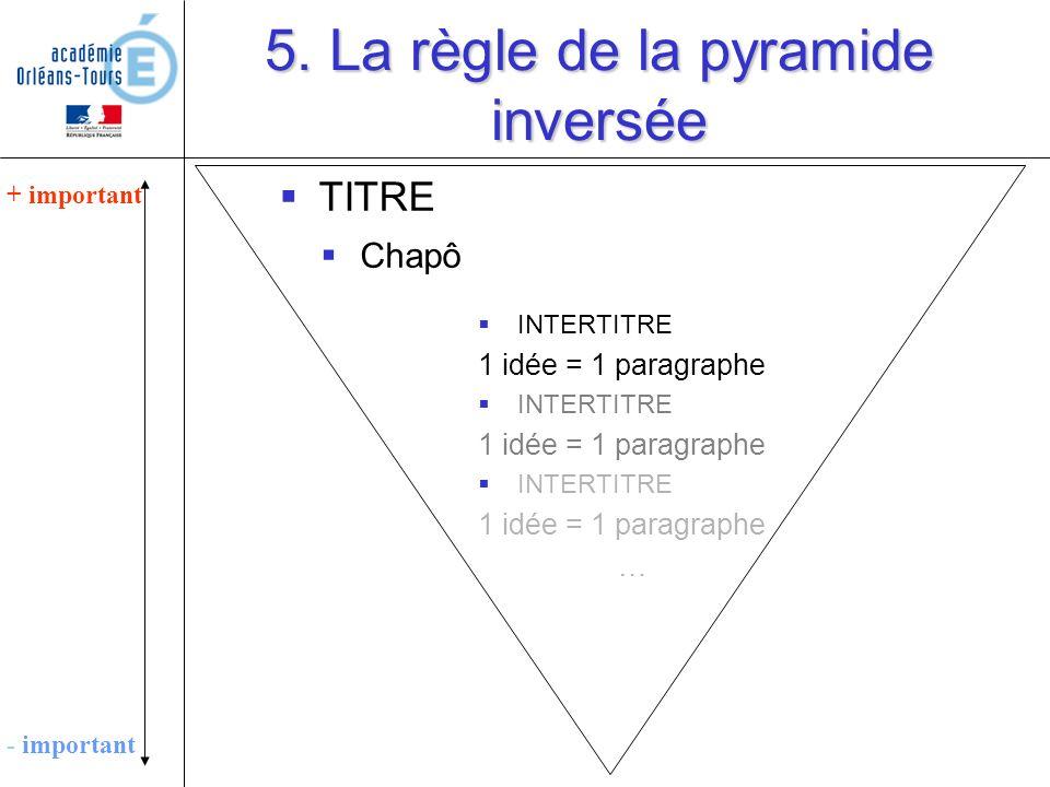 5. La règle de la pyramide inversée
