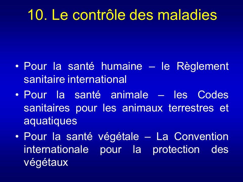 10. Le contrôle des maladies