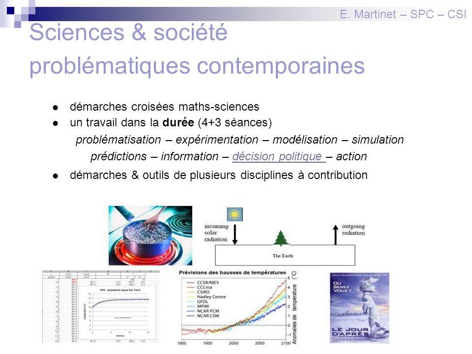 Sciences & société problématiques contemporaines
