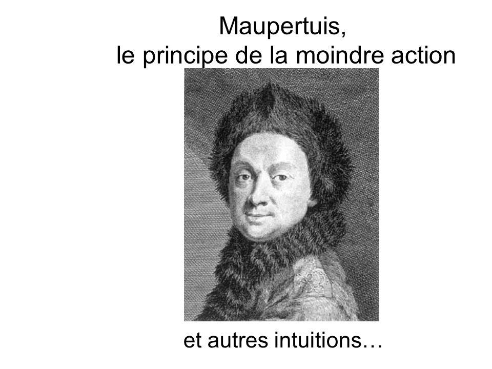 Maupertuis, le principe de la moindre action