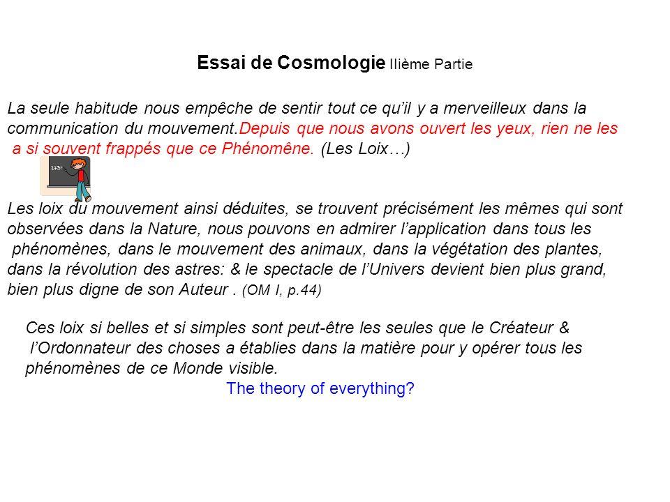 Essai de Cosmologie IIième Partie