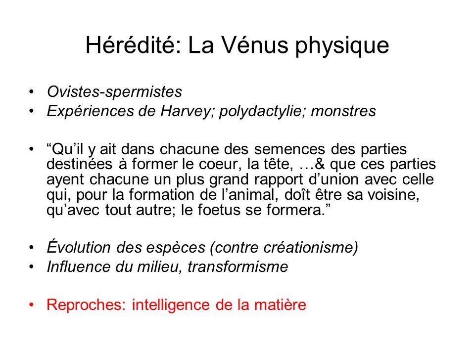 Hérédité: La Vénus physique