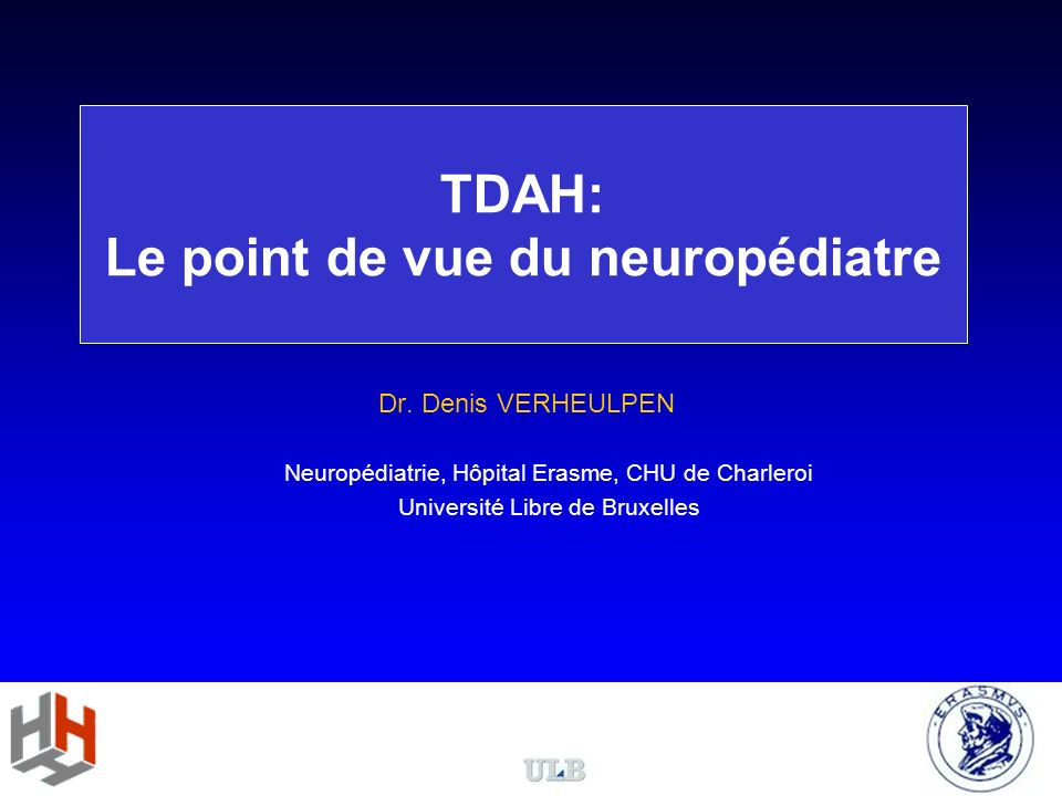 TDAH: Le point de vue du neuropédiatre