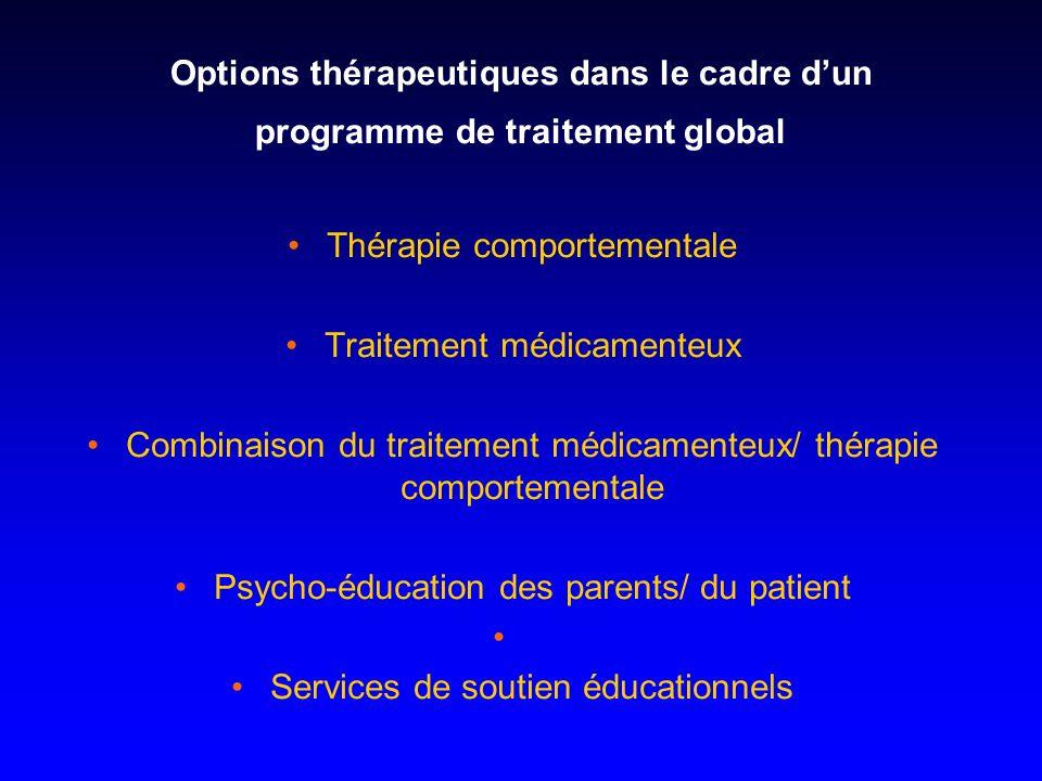 Thérapie comportementale Traitement médicamenteux