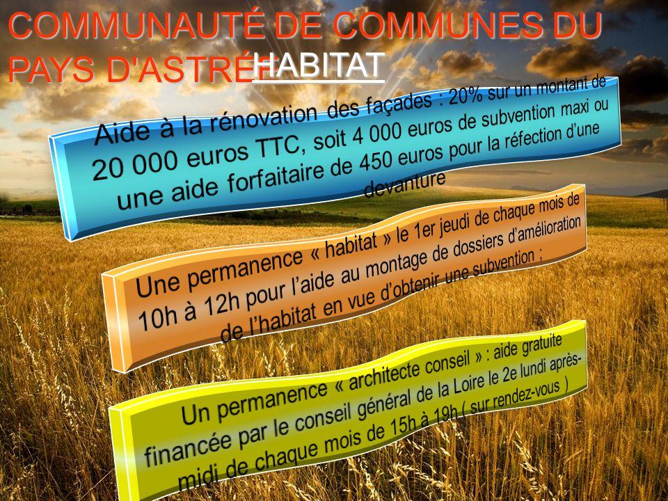 COMMUNAUTÉ DE COMMUNES DU PAYS D ASTRÉE