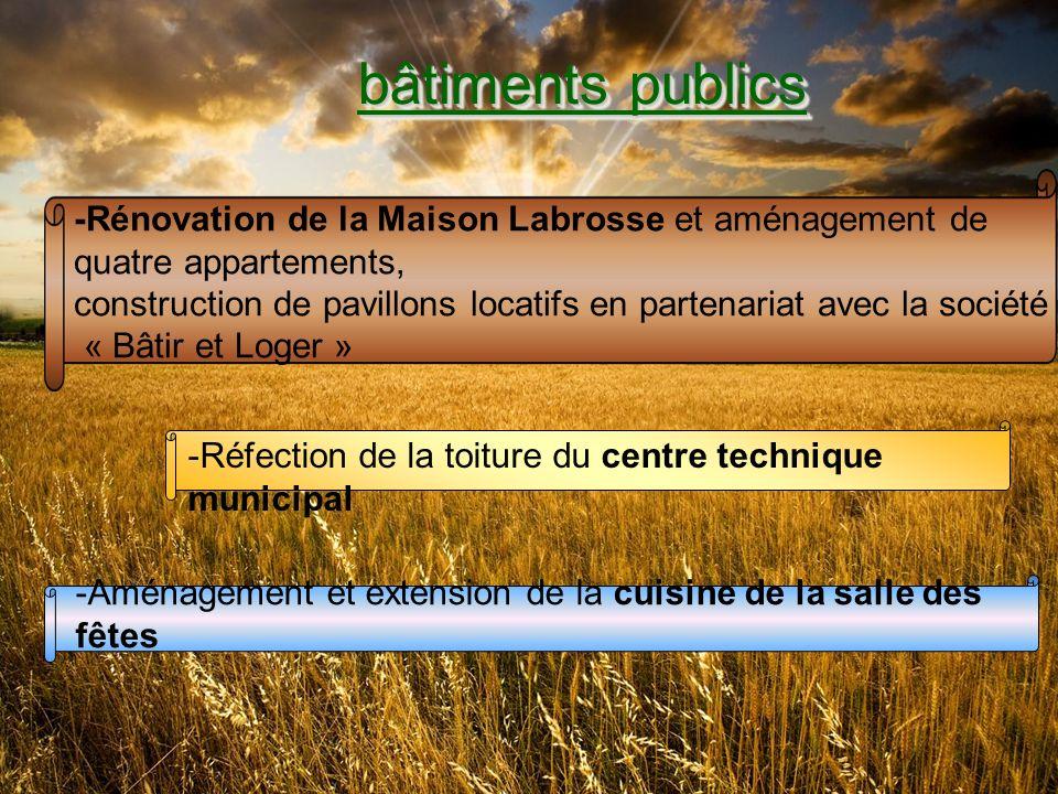 bâtiments publics -Rénovation de la Maison Labrosse et aménagement de quatre appartements,