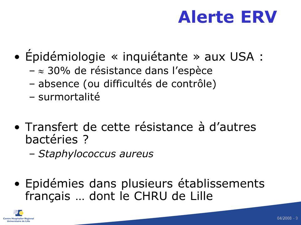Alerte ERV Épidémiologie « inquiétante » aux USA :