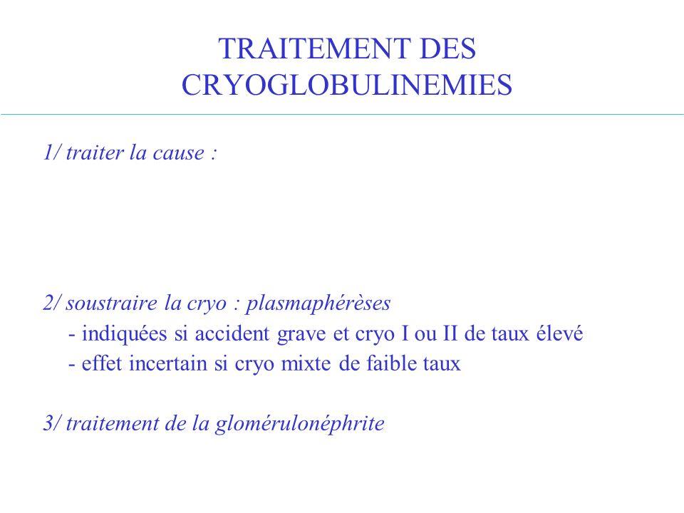 TRAITEMENT DES CRYOGLOBULINEMIES