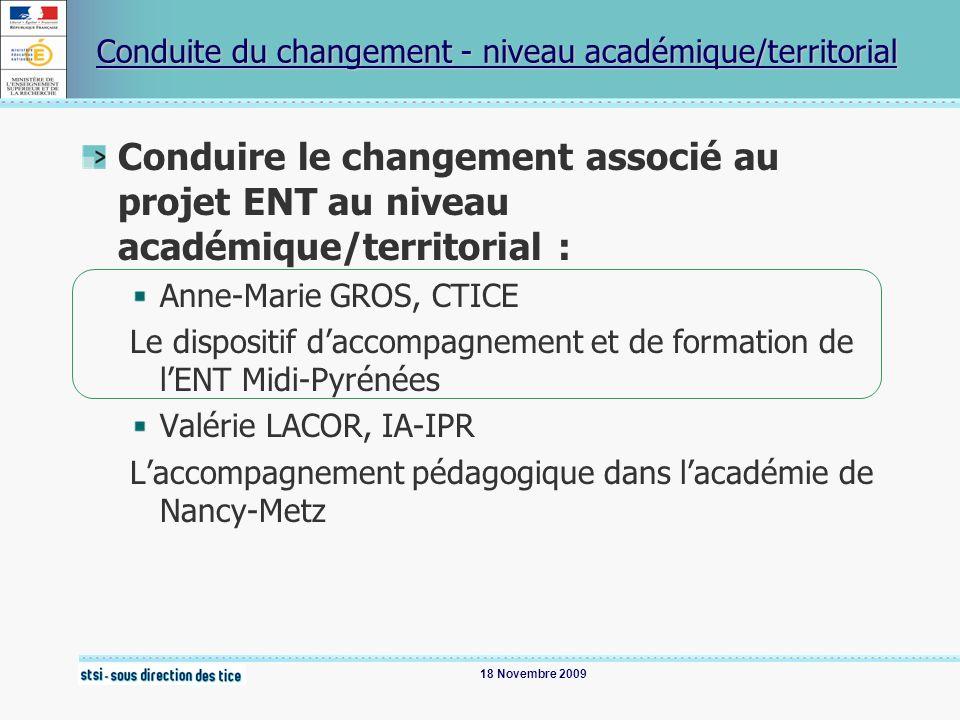 Conduite du changement - niveau académique/territorial